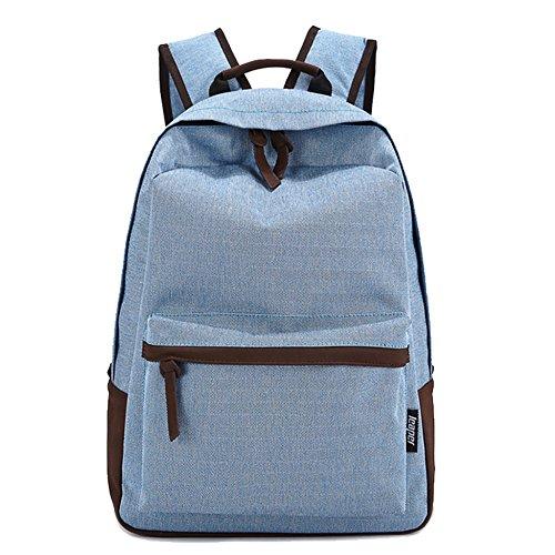 Tela Zaino, culturesin tempo libero zaino studenti in Laptop Zaino Scuola Borse Moda Borsa a tracolla per ragazzo e ragazza blu blue 42*30*15cm