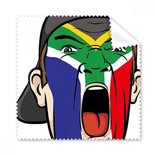 Südafrika National Flagge Gesicht Malen Make-up Maske Screaming Mütze Brille Reinigungstuch Geschenk Handy-Display von 5x