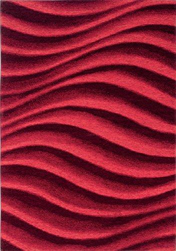 Boyteks upside chenille clouds tappeto per arredo, acrilico/poliestere/cotone, rosso, 68x100 cm