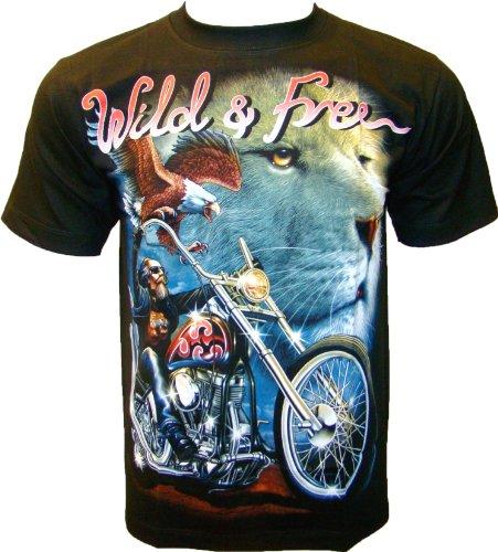 Rock Chang T-Shirt * Wild & Free * Nero R493(S) - Indiano Dagger