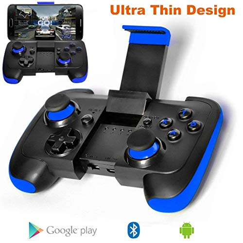 BG&MF Android Bluetooth Controller, Ultra Thin Bluetooth Gamepad mit Halterung für Android Phone/Tablet/TV Box/VR Geräte/Emulator (Ich Mini Tablet)