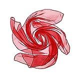 Damen Kopfschmuck Matrose Tanz Schals Chiffon Schal Quadratisch Taschentuch Satin Band für Mädchen GreatestPAK,Rot
