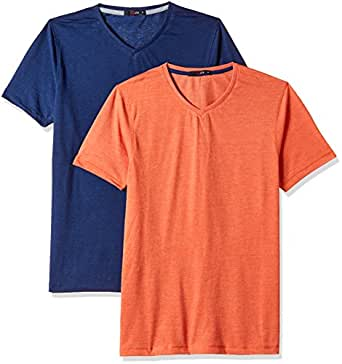 Qube by Fort Collins Men's T-Shirt (Pack of 2)(189-VS_Medium_Combo 1)