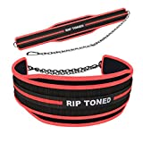 Dip Belt By Rip Toned - 6' Weight Lifting Pull Up Belt With 32' Heavy Duty Steel Chain & Bonus Ebook...
