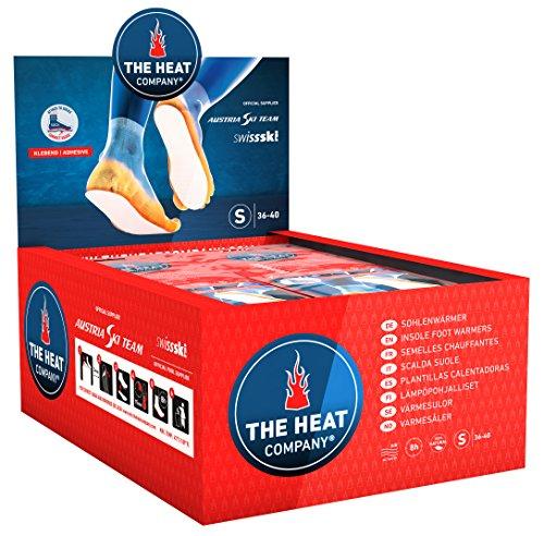 THE HEAT COMPANY Semelles Chauffantes Adhésives - EXTRA CHAUD - 8 heures de chaleur - chaleur immédiate - autochauffante - purement naturel - SMALL Taille: 36-40 - 30 paires