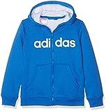 adidas YB ESS Lin fzbr–Kinder Hoodie, Jungen, YB ESS Lin Fzbr, Blau/weiß