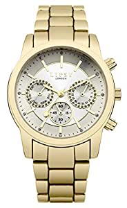 Lipsy Women's SLP002GM Quartz Watch with Silver Dial Analogue Display and Alloy Bracelet