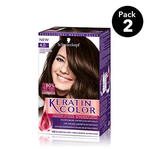 Keratin Color Schwarzkopf - Tono 4.0 Castaño natural
