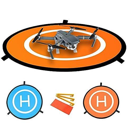Tapis D'atterissage Pour Drone – Le Tapis D'atterissage Portable ZOMEi pour les Drones RC, Hélicoptère DJI Mavic Pro Phantom, 3 Phantom 4, Inspire 1 et Quadcopters Apron Helipad 30