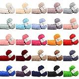 Manyo 25 échevettes Fils à Broder 100% Coton multicolores (14)