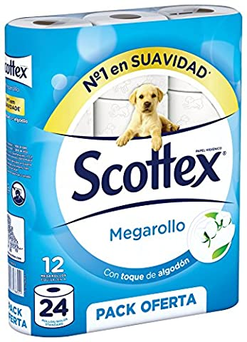 scottex megarollo P12–Papier toilette–[Pack de 2]