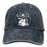 Personality Caps Hats Da Vinci Drums Unisex Adult Adjustable Sun Dad Hat