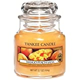 Yankee Candle 1114683E Bougie senteur Mangue Pêche Cire Orange 6,3 x 6,0 x 7,1 cm