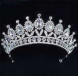 GWQ MariéE Tiare De Mariage Baroque Couronne Diamante Bandeau De La Sainte-Communion Accessoires De Coiffure Couronne