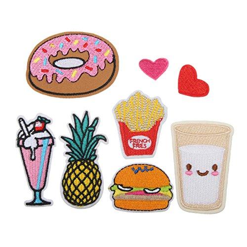 king-do-way-toppa-termoadesiva-ricamo-stoffa-8-pezzi-burger-dessert-frutta-toppa-termoadesive-toppa-