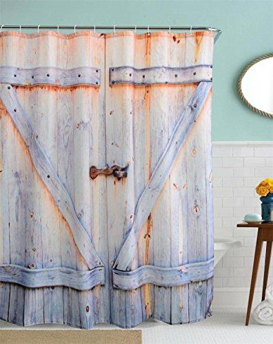 GYMNLJY 3D vecchie porte di legno Stampa digitale tende in poliestere doccia tenda bagno tenda della doccia bagno , 180x180