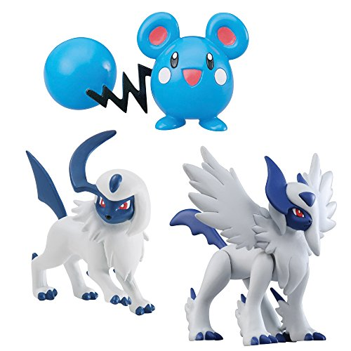 Tomy Pokémon - T18393 - Figurine Manga - Absol, Absol, Azurill - Pack de 3