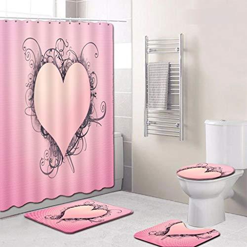 Beautiful Toilette 3d Bathroom Anti Slip Lotus Goldfish Pattern Floor Sticker Bath Carpet Waterproof Shower Badezimmer Teppich Home & Garden Bath Mats