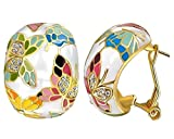 #7: YouBella Enamel Silver-Black gold-plated Dangle & Drop earrings for Women