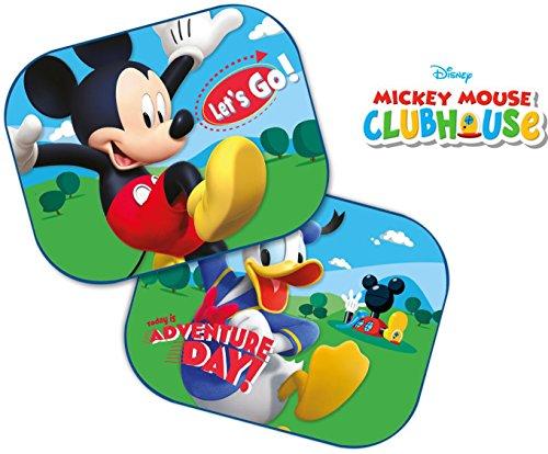 Disney Mickey Mouse: 2 x Auto Sonnenschutz / Vorhänge / Seitenscheibe / Sonnenblende inklusive UV Schutz für Baby und Kind