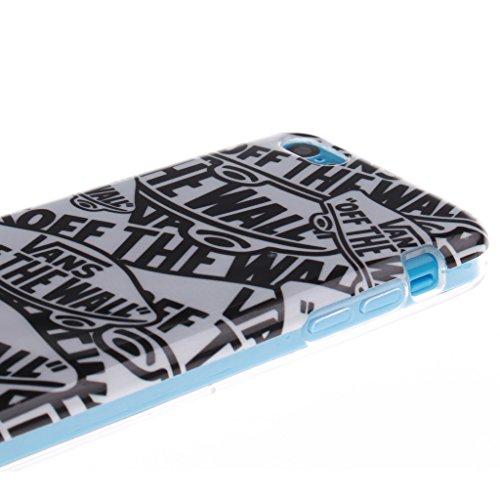 """SsHhUu iPhone 5c Coque, Personality Animal Ultra Slim Doux TPU Flexible Durable Gel Silicone Protecteur Rear Skin Painting Art Étui Housse Case Cover Pour Apple iPhone 5c 4.0"""" Style de lettre"""