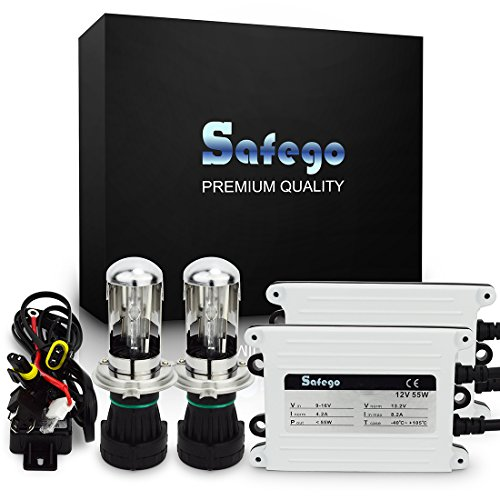 Safego HID Bi Xenon Licht H4 6000K Scheinwerfer Hi/Lo Lampen Auto Scheinwerfer Birnen Kit