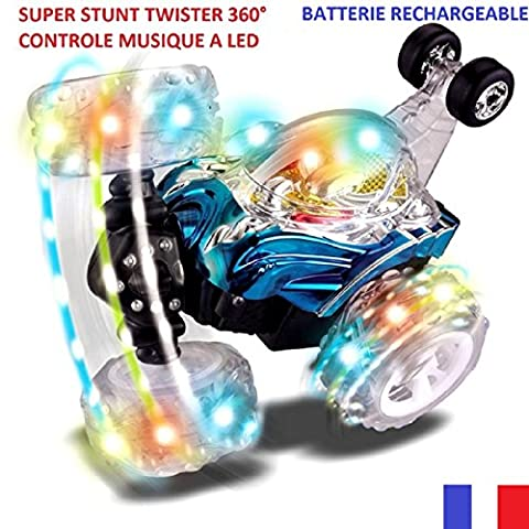 STUNT TWISTER RADIO CONTROL MUSIQUE A LED. taille 17x17x16 :