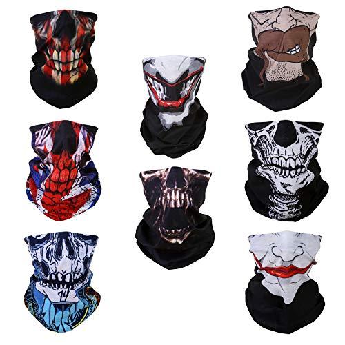 WLS 8 Stück Multifunktionstuch Gesichtsmaske Motorradmaske Sturmmaske Maske  für Motorrad Ski Snowboard Snowboard Fahrrad Bergsteigen Trekking 879daa8f9884