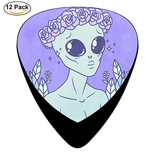 Cute Alien Tattoo - To cute for this planet.(708 Celluloid Plectrums for Guitar Bass,12 pack (Tattoo Cute Alien)