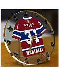 NHL Ligue nationale de hockey–Eastern Conférence–Division Atlantique Jersey Bureau Horloges–N'importe Quel Nom, n'importe quel Nombre, n'importe quelle équipe–Sans personnalisation., Femme Homme Enfant, Montreal Canadiens