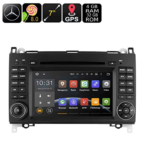 BEESCLOVER WSD2025 Dual-DIN Auto-DVD-Player für Mercedes-Benz B200 7 Zoll Android 8.0 Quad-Core CPU - Mercedes Benz Verstärker