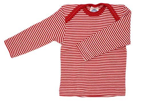 1e77098ed7bfa Cosilana Blouse à enfiler pour bébé en laine soie de Wollbody® - Rouge -