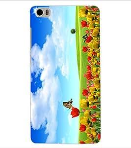 ColourCraft Beautiful Flowers Design Back Case Cover for XIAOMI MI 5