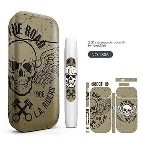 Preisvergleich Produktbild Yeleo Trosetry E Zigarette Aufkleber,  Schutzfolie für IQOS Geräte,  Premium Kratzerschutz Aufkleber für IQOS Version 2 / 3 2.4plus Kein Nikotin(Design 7)(H05)