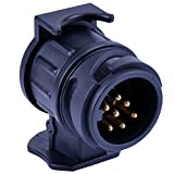 Waterproof Towbar Towing Socket 13 to 7 Pin Plug Trailer Truck Caravan Electric Adapter Converter By Ouway