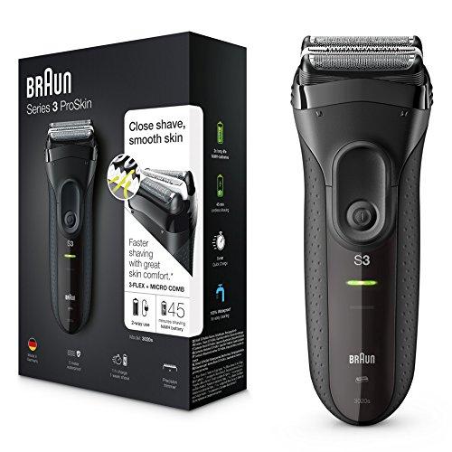 Braun Series 3 Elektrischer Rasierer 3020, schwarz (Rasierer Braun)
