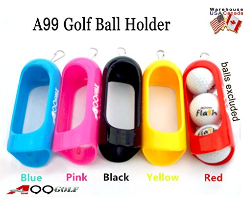 A99Golf Support pour Balle avec cordon de libération rapide à clipser, jaune