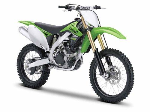 Maisto Kawasaki KX 450F: Originalgetreues Motorradmodell 1:12, mit beweglichem Ständer, Hinterrad-Federung und frei rollenden Rädern, 18 cm, grün (531175) -