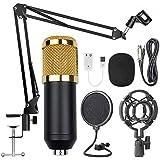 BM-800 Professional Broadcasting Studio Recording Condenser Microphone Mic Kit with USB Sound card - 2725517141500