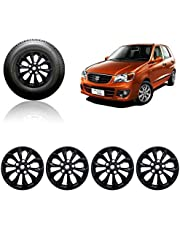 Auto Pearl Car Full Black Wheel Cover Caps 13 inch Press Type Fitting for Alto K10 Old