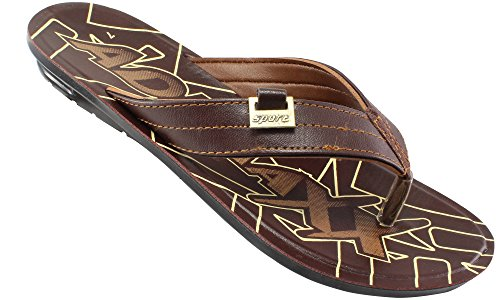 ADX Brown Color Slippers For Men