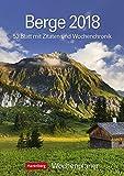 Berge - Kalender 2018: Wochenplaner, 53 Blatt mit Zitaten und Wochenchronik