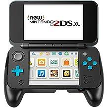 Grip para Nintendo New 2DS XL – Younik mango antideslizante con soporte para New Nintendo 2DS XL 2017 ( Negro )