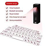 Laser Bluetooth Tastiera Senza Fili di Proiezione Laser Virtuale Inglese della Tastiera QWERTY con Funzione Zoom Adatto per Smart Phone Tablet PC