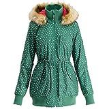 Blutsgeschwister Schneewoelkchen Longjacket Winterjacke Damen grün/rot - L