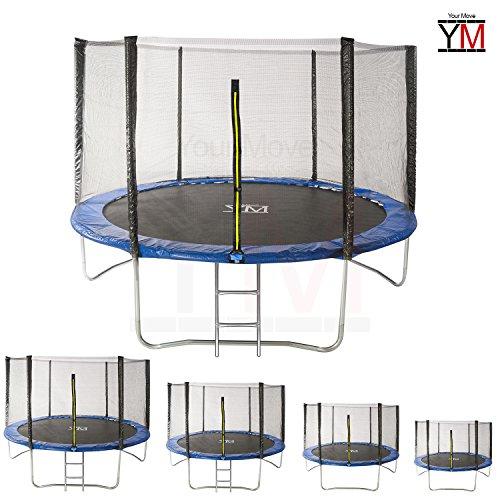 YM Trampolino Elastico da Giardino Tappeto Elastico Esterno Sport Rete YOURMOVE (Diametro 183 cm)
