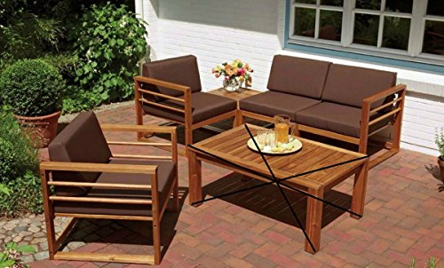 Dreams4home Loungegruppe Piper 5er Set Loungeset Kleiner Tisch