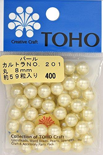 TOHO runde Perle Aussendurchmesser von etwa 8 mm No.201 Karutora ueber 59 Monate Eingabe -