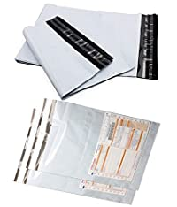 10 Pcs With Pod Self Adhesive 14 x 18 Inch Poly Bags Packing Material Courier Bag by Webshoppers