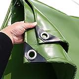 LXLA- Heavy Duty Shade Markise mit Ösen PVC-Plane Wasserdicht Tarp Sheet Sonnencreme Shed Tuch Rainproof Cover - 650g/m², Grün (größe : 3m x 4m)